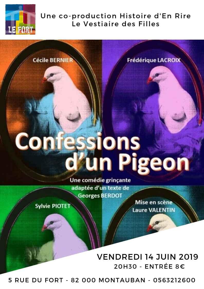 Confessions d'un pigeon - Théâtre Accueil du Fort - Montauban - Habitat Jeunes