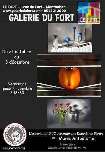 PCC exposition photographie Montauban galerie du Fort Marie Antoinnette