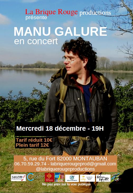 Manu GALURE Concert au Fort Montauban Habitat Jeunes la brique rouge production