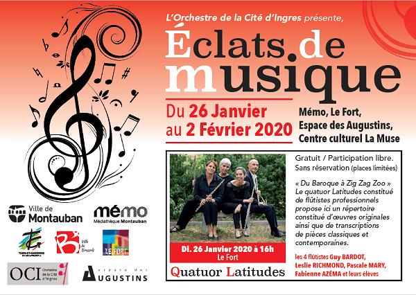 Eclats de musique 2020 Le Fort Montauban