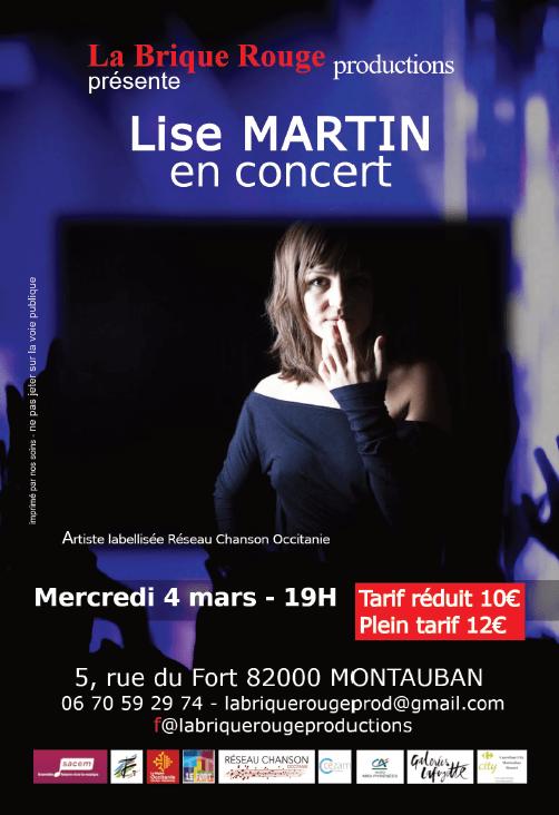 Lise MARTIN Le Fort la brique rouge production concert montauban scène musique