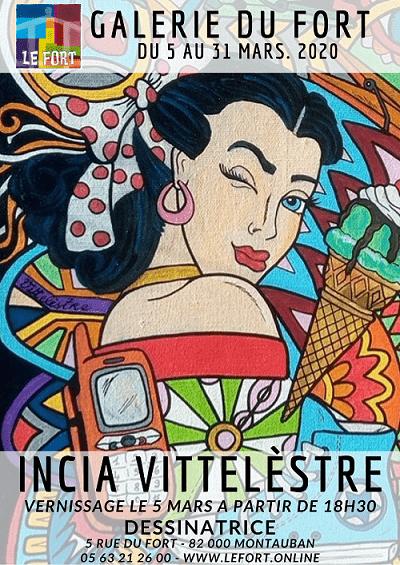 INCIA VITTELESTRE Galerie du Fort montauban Le Fort exposition dessin couleur loufoque